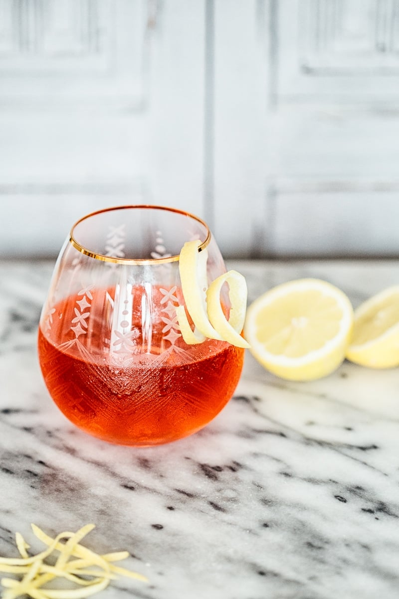 Hibiscus and Lemon Gin and Tonic