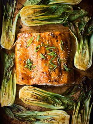 Salmon Teriyaki with Bok Choy One Pan Dinner