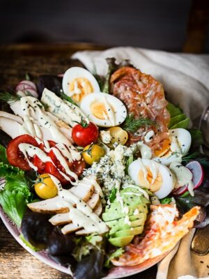 Summer Fresh Cobb Salad with Yogurt and Preserved Lemon Dressing
