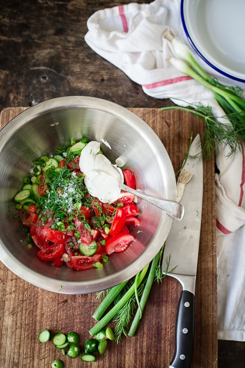 Summer Tomato and Cucumber Salad