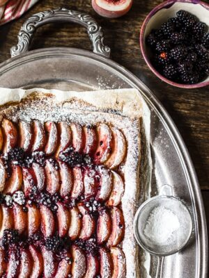 Peach and Blackberry Tart