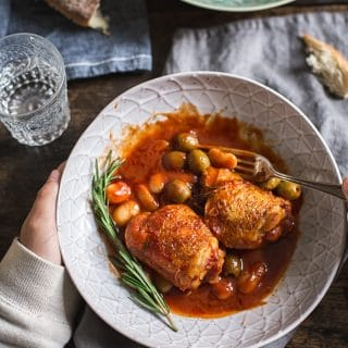Rosemary Chicken and White Beans
