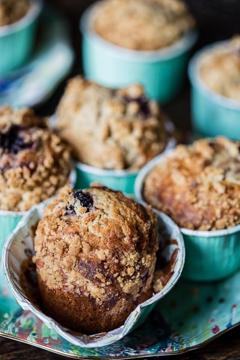 Bakery Style Blackberry Muffins