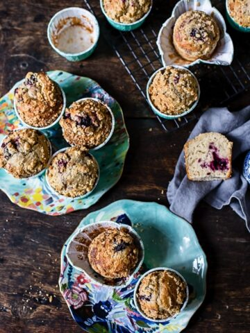Bakery Style Blackberry Muffins