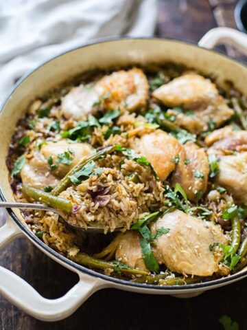 Indonesian Coconut Chicken and Rice with Green Beans