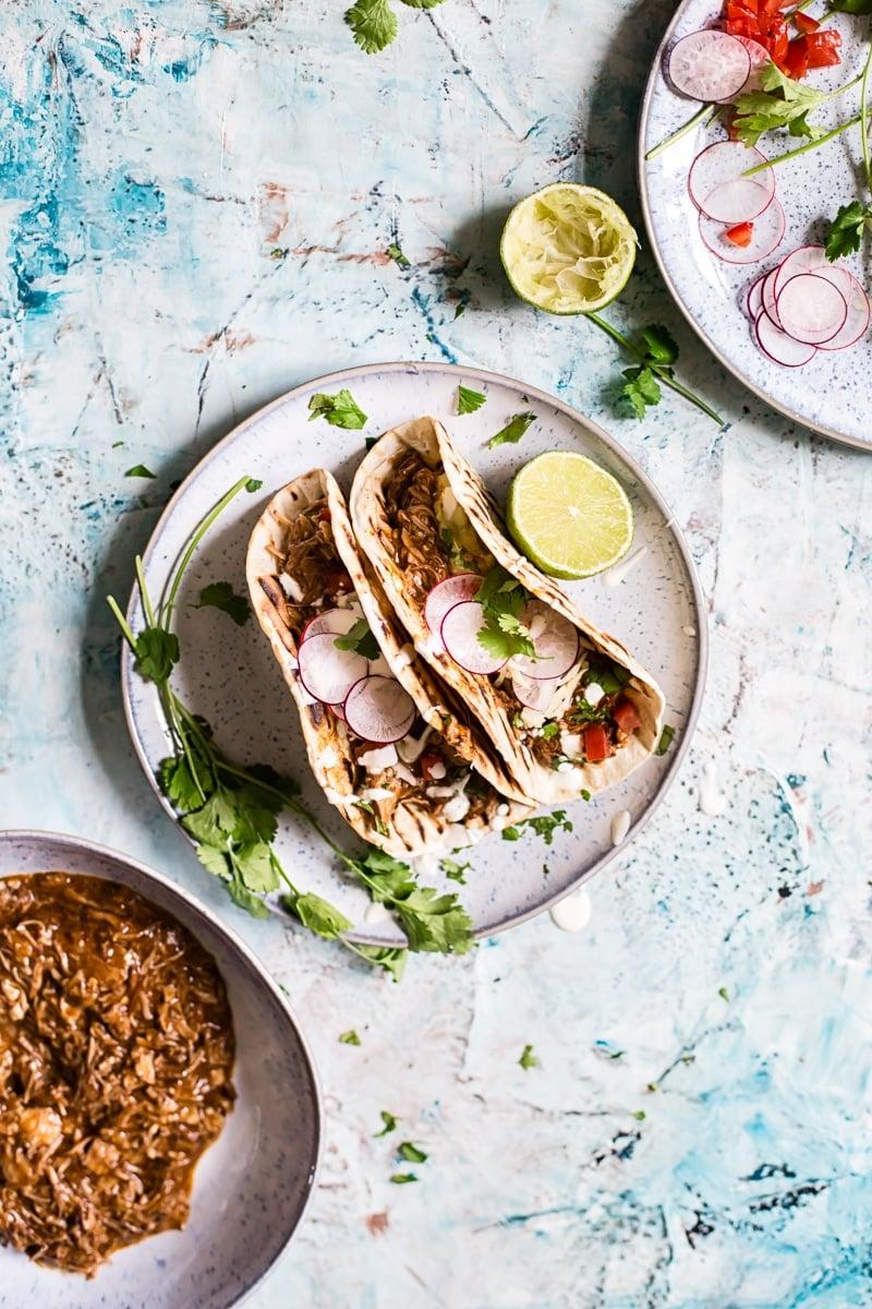 Pulled Lamb Birria Tacos