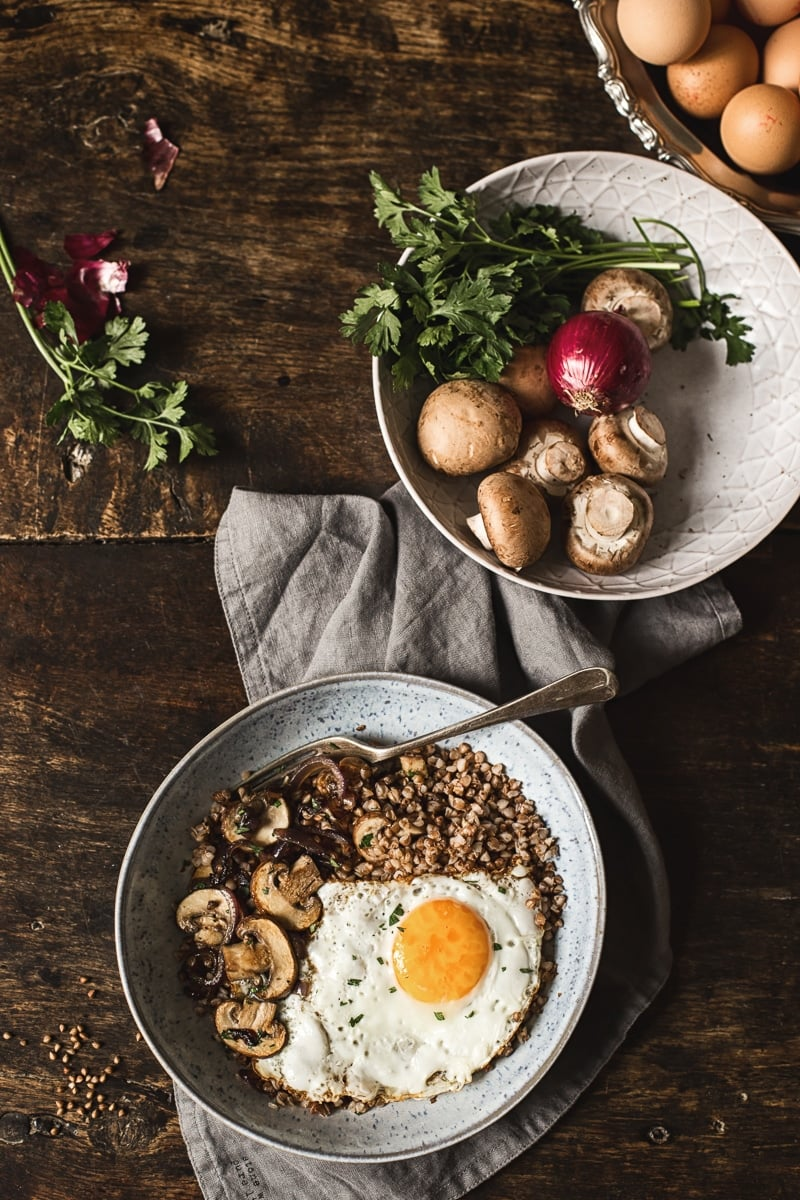 Savoury Buckwheat Breakfast Bowl