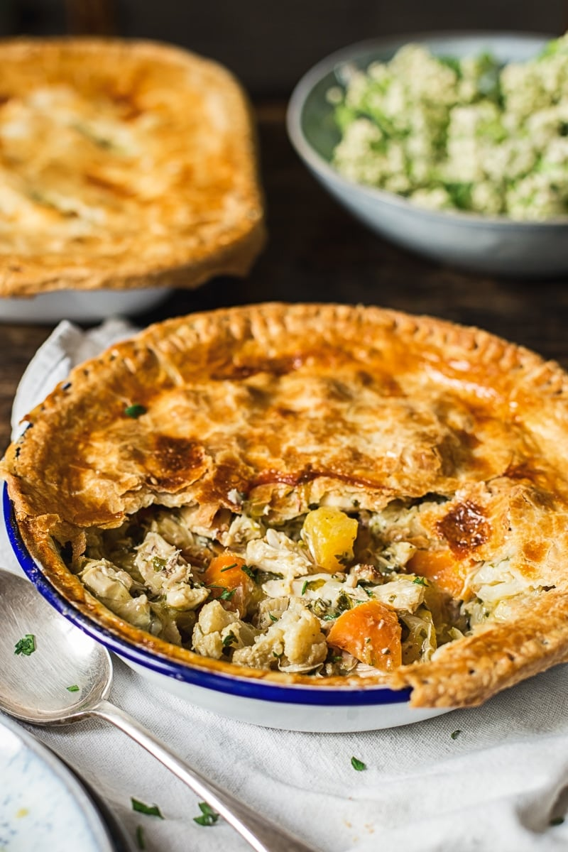 Sage Chicken Pot Pie with Roasted Harvest Vegetables