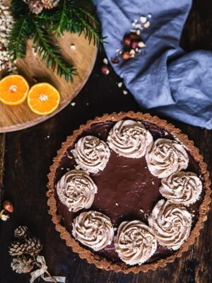 Chocolate Orange Hazelnut Tart