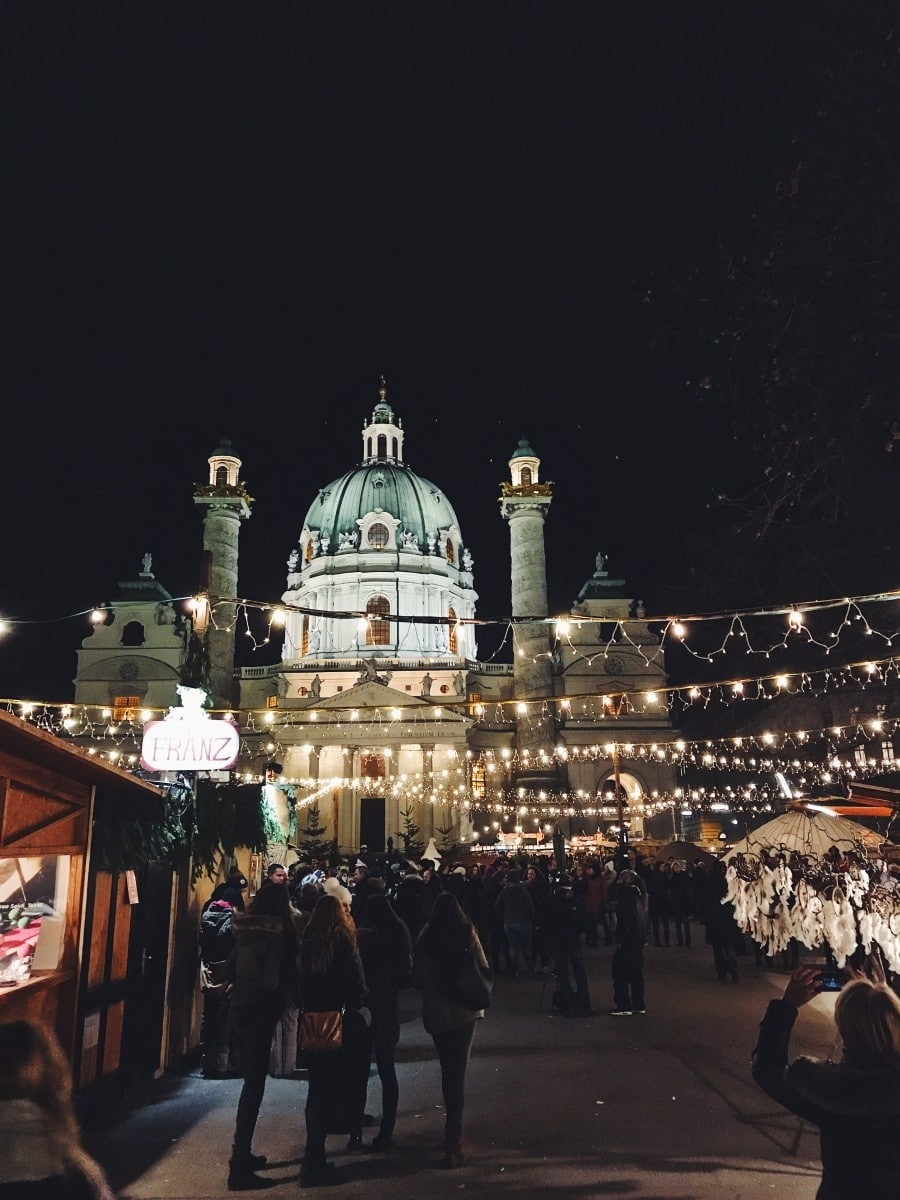 Christmas market at Karlplatz