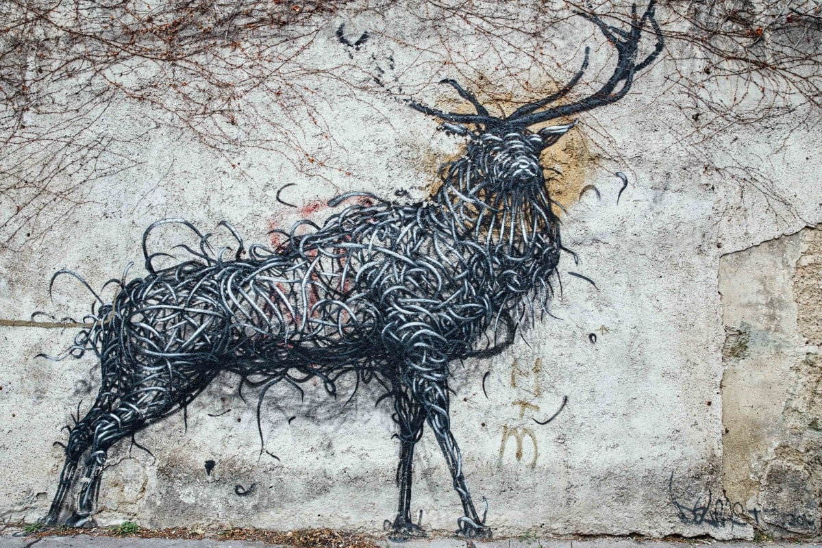 Street art of elk