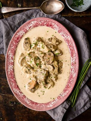Beef in Truffled Cream Sauce