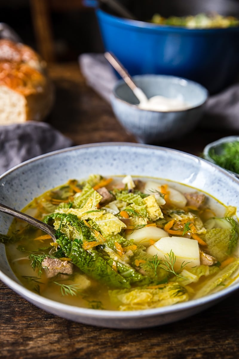 Restorative Beef and Cabbage Soup