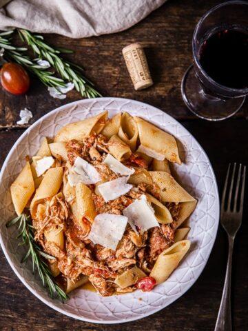 Venetian Chicken Ragu Pasta