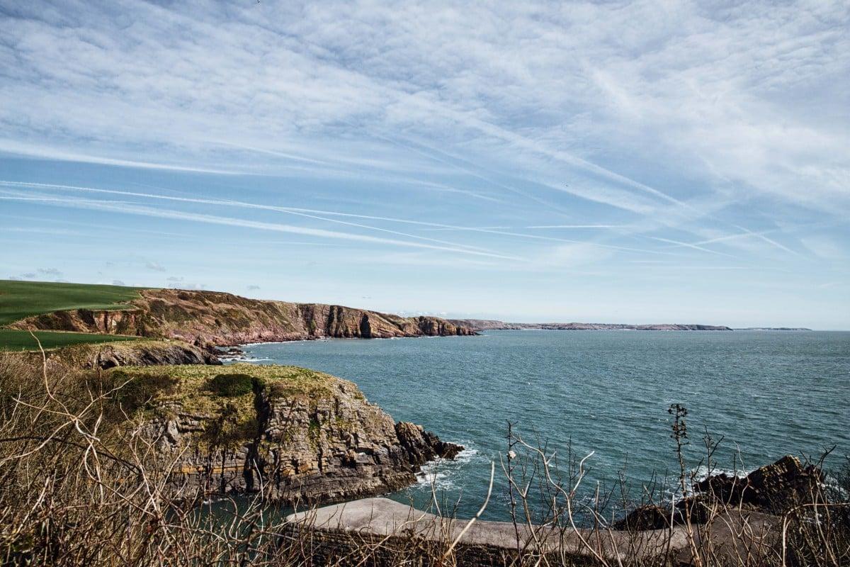 Rugged cliffs on Welsh coast