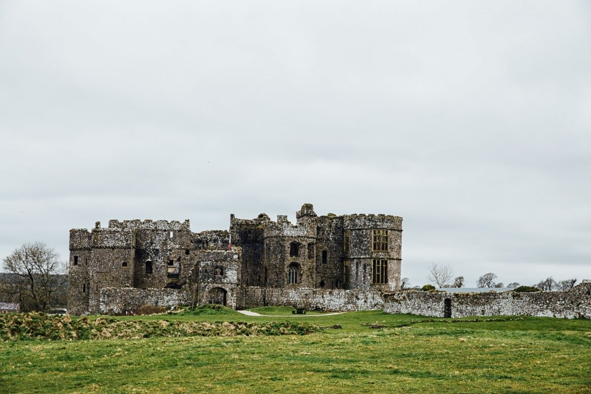 Front view of Carew Castle