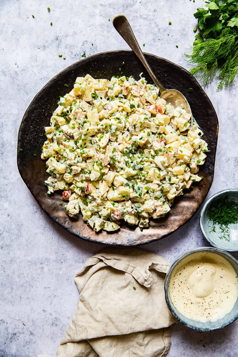 Russian Potato Salad Recipe with Chicken #potatosalad #Russiansalad #Olivier