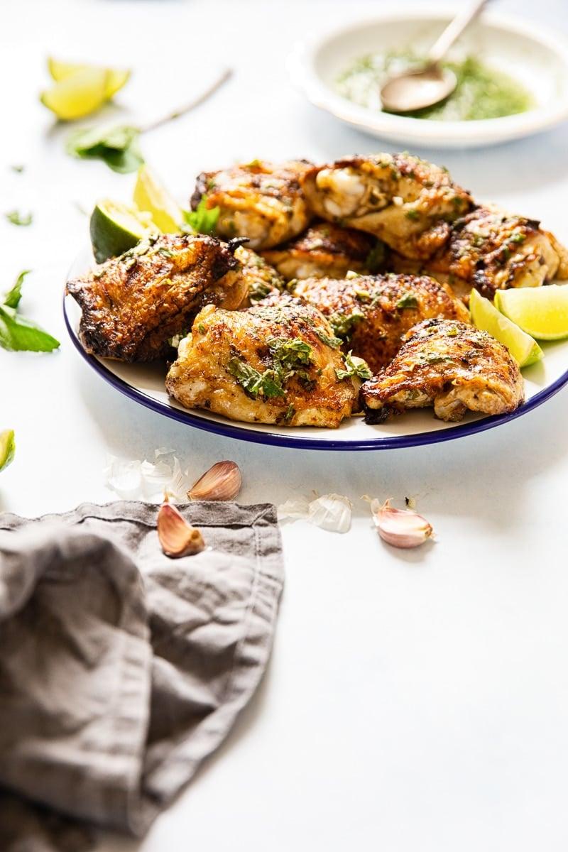 Mojito Grilled Chicken Thighs #grilledchicken #chickenthighs #mojito