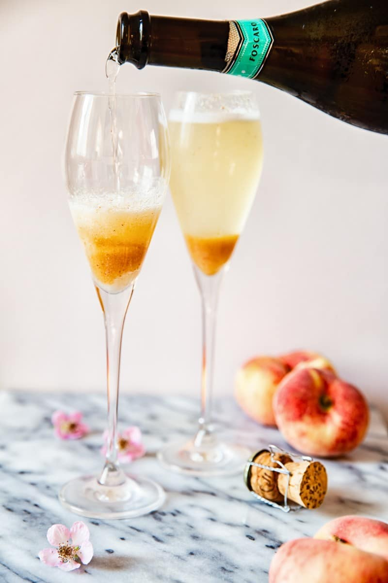 Elderflower Peach Bellini