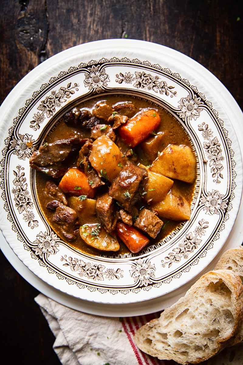 Irish Beef Stew in a bowl