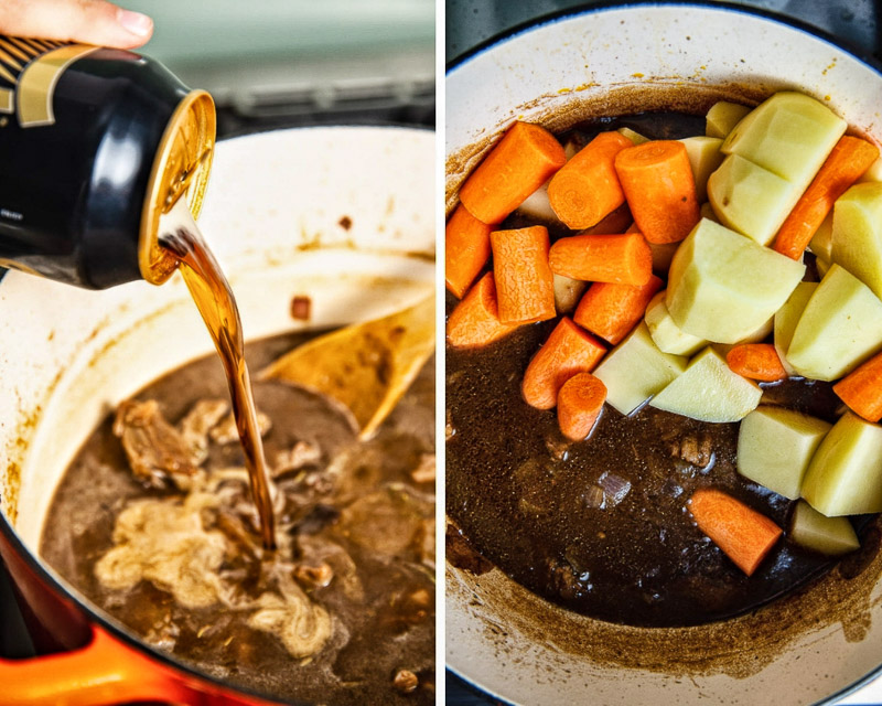 Irish Beef Stew with Guinness process images