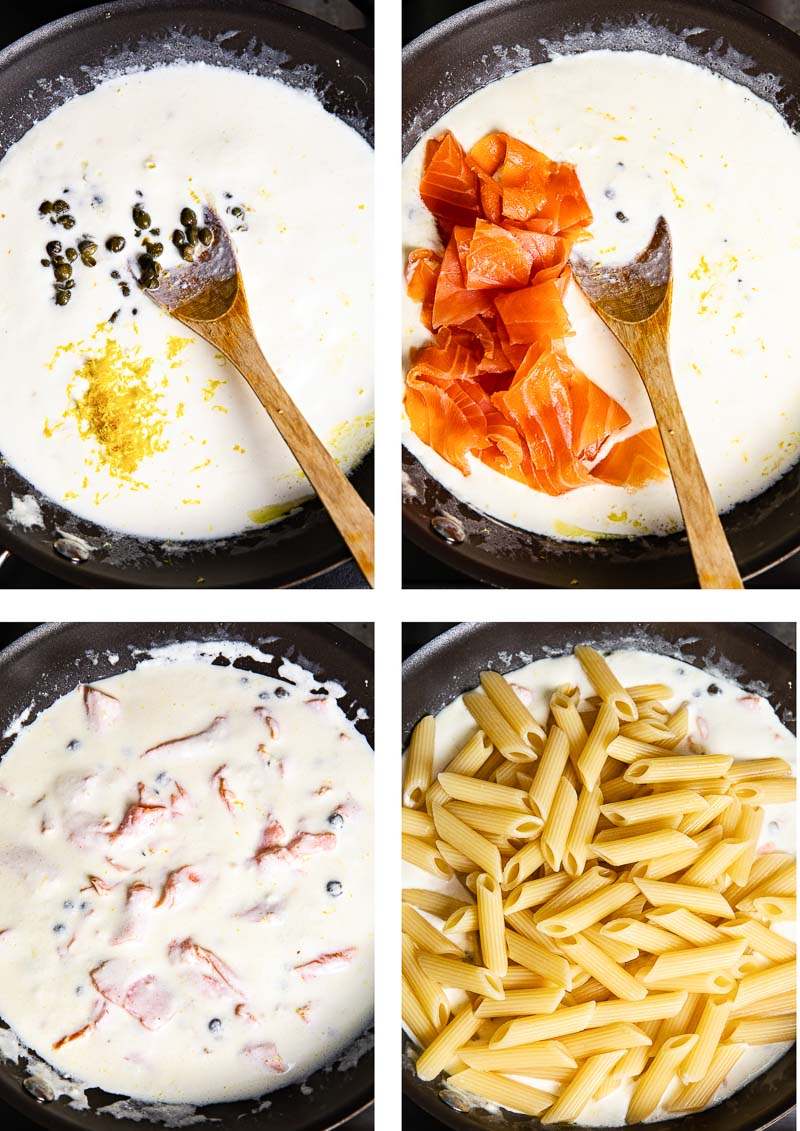 Creamy Creamy Pasta with Smoked Salmon