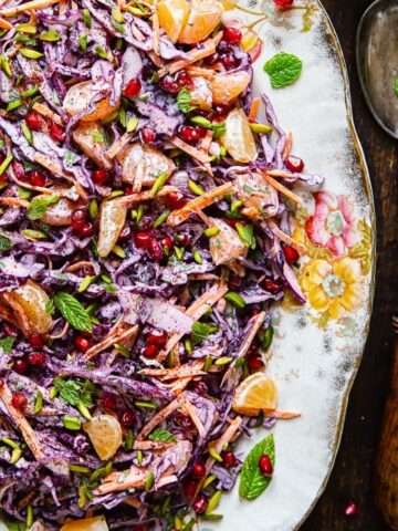 Festive Red Cabbage Slaw
