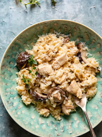 Chicken Risotto with Mushrooms and Thyme