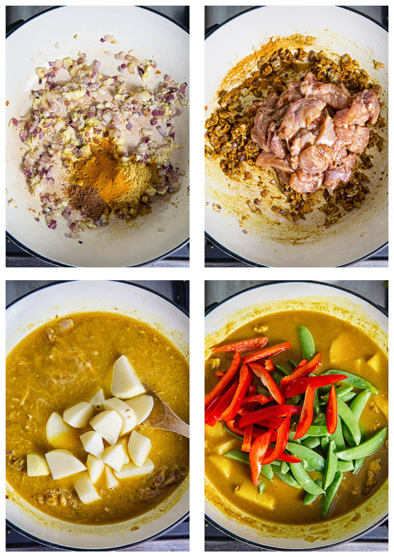 Chinese Chicken Curry process images