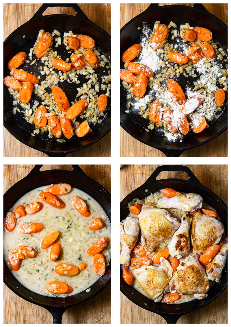 Chicken Casserole Process Steps