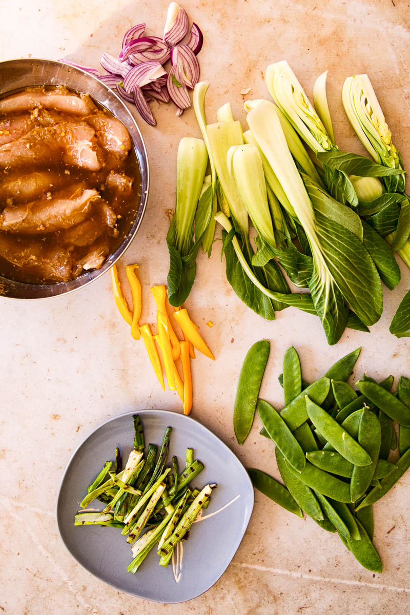 Teriyaki chicken stir fry ingredients