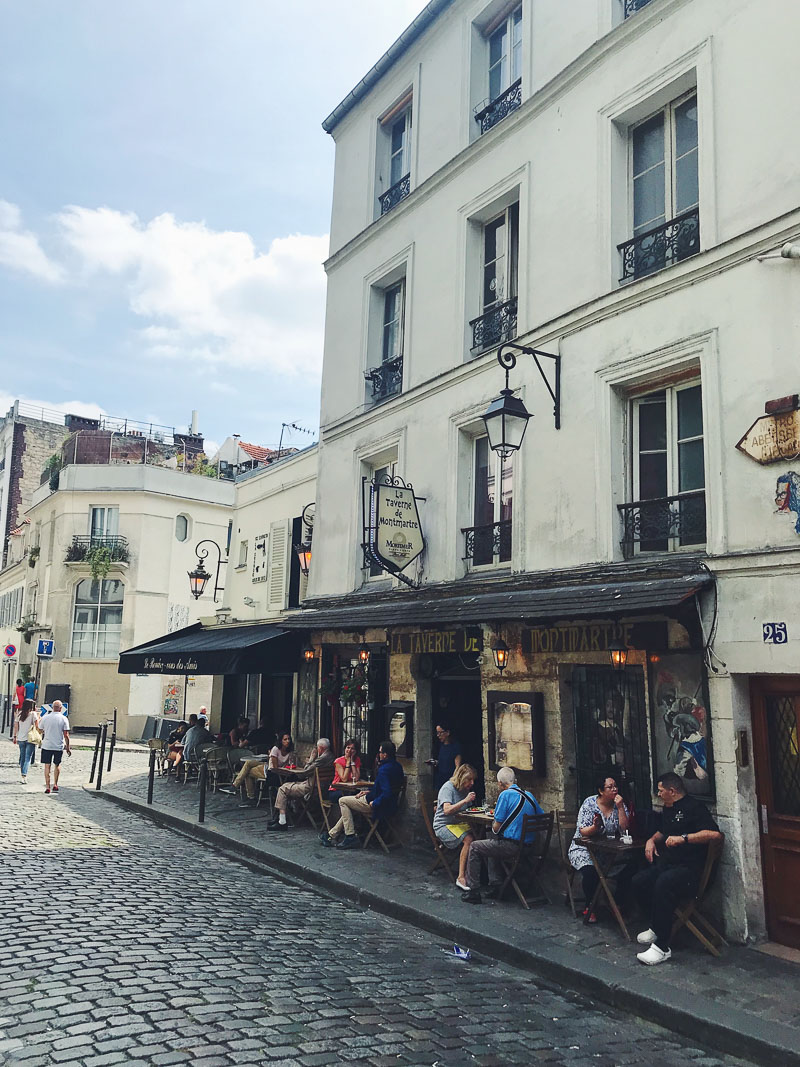 Cafe culture on Parisian street