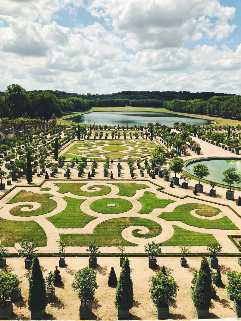 Gardens at Versailles seen from near the Palace