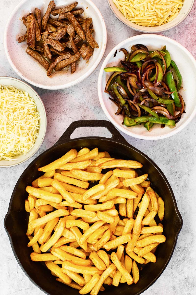 Philly Cheesesteak Loaded Fries Ingredients