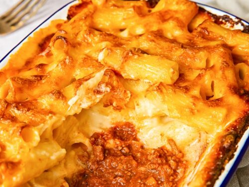 Layered Italian Baked Mac And Cheese Vikalinka