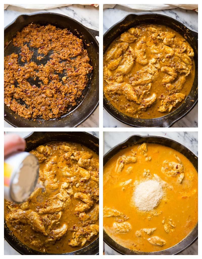 Chicken Korma Cooking Process Photos