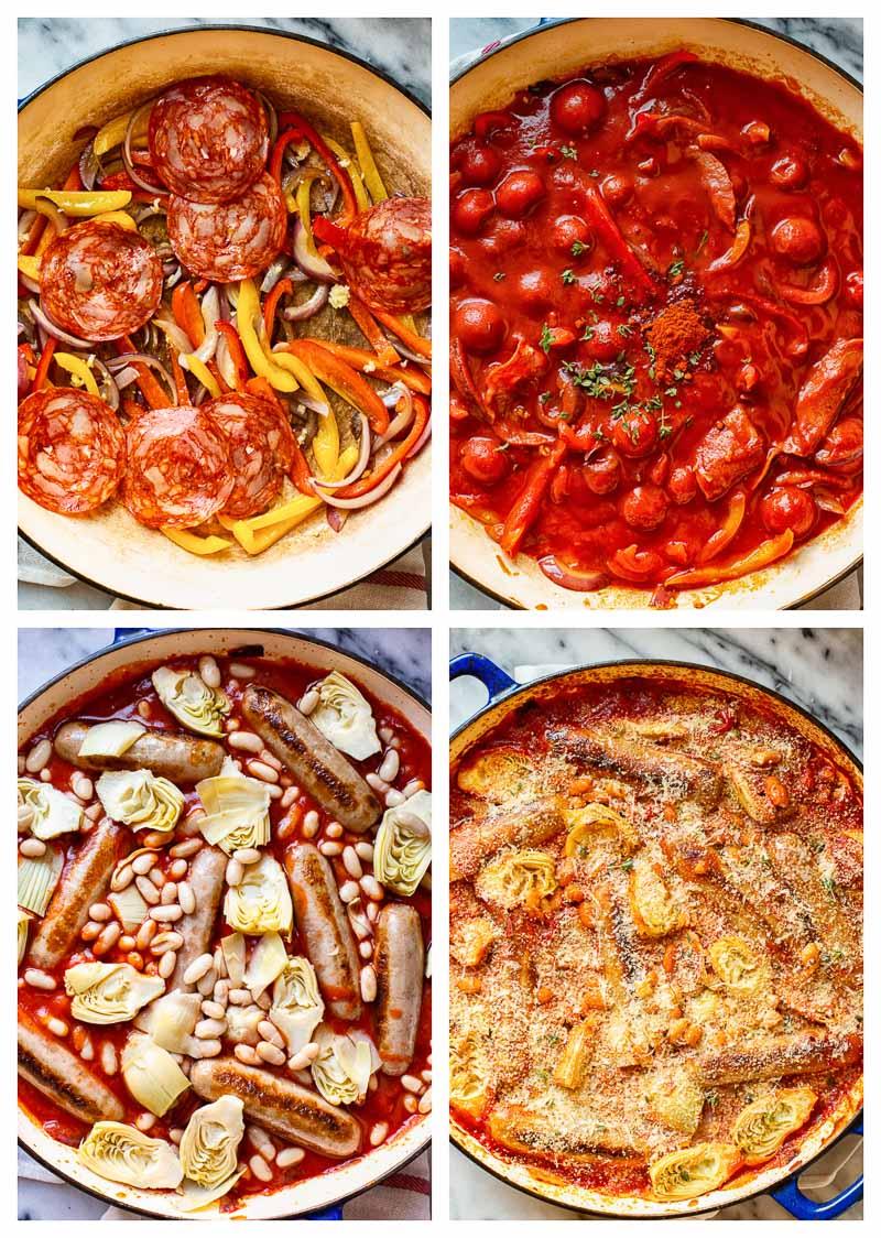 Sausage Casserole Process Images