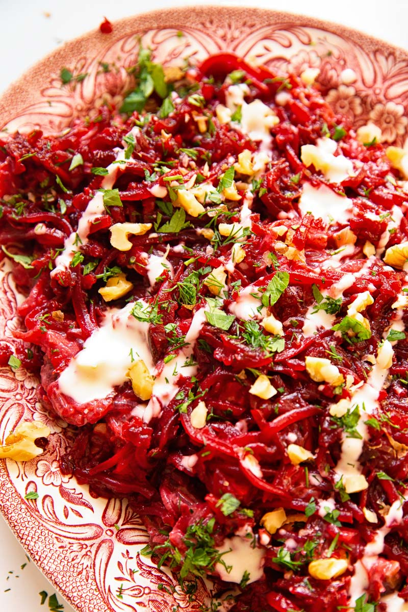 Beetroot Salad with herbs and walnuts