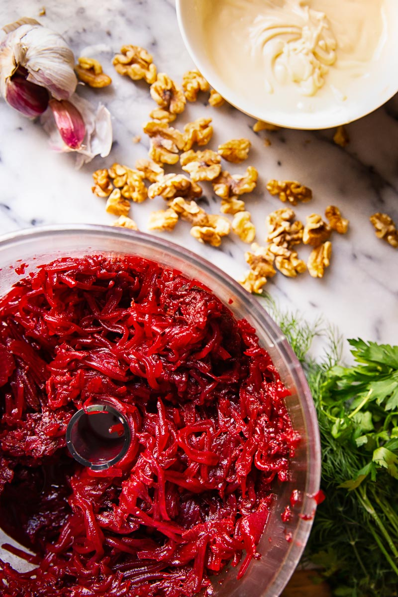 Beet salads ingredients