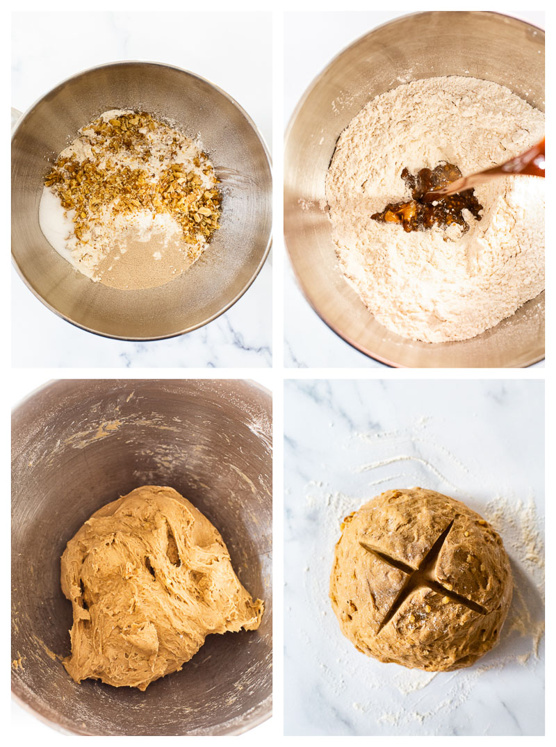 4 Stages of rye bread making