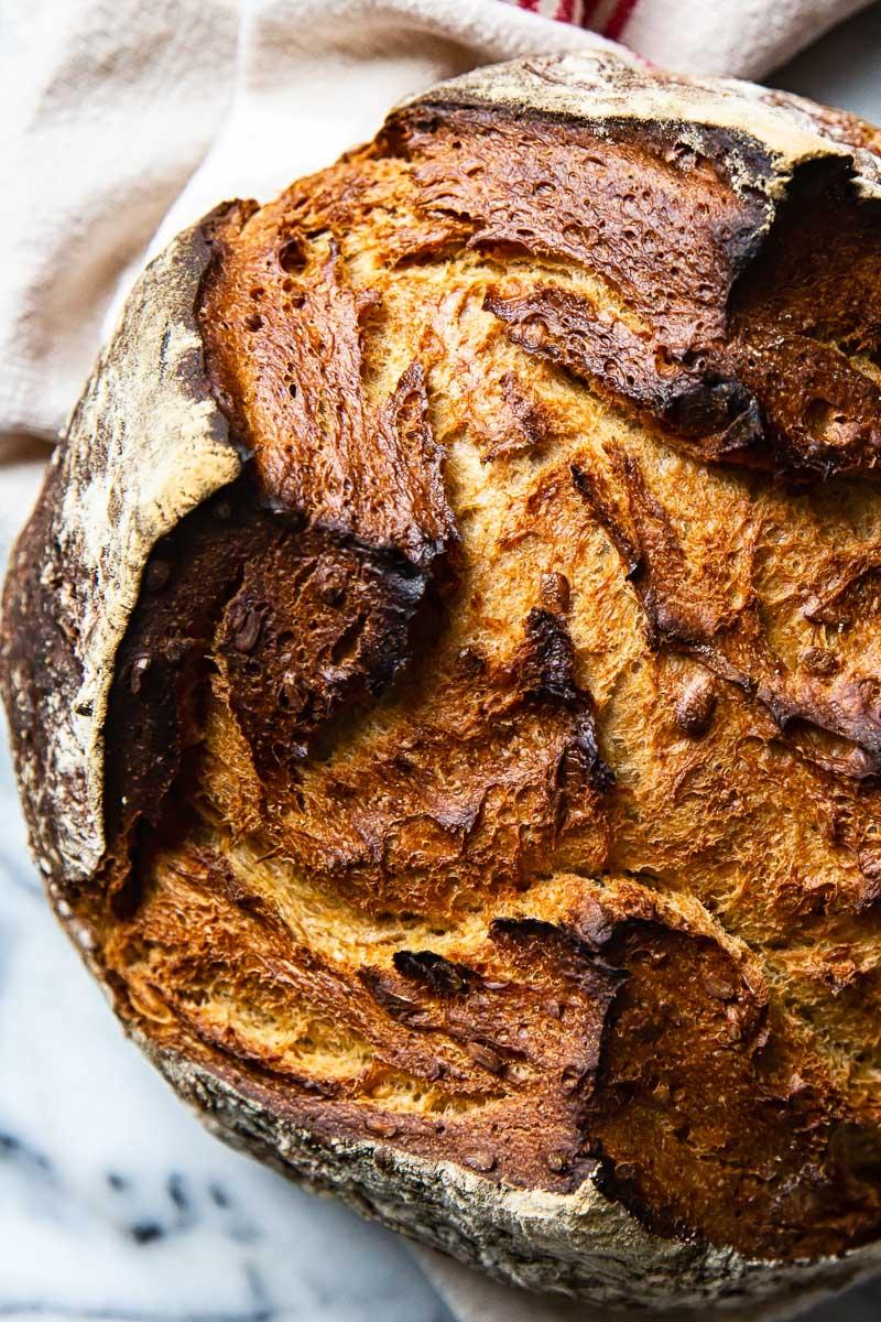 Dark Rye Bread Loaf