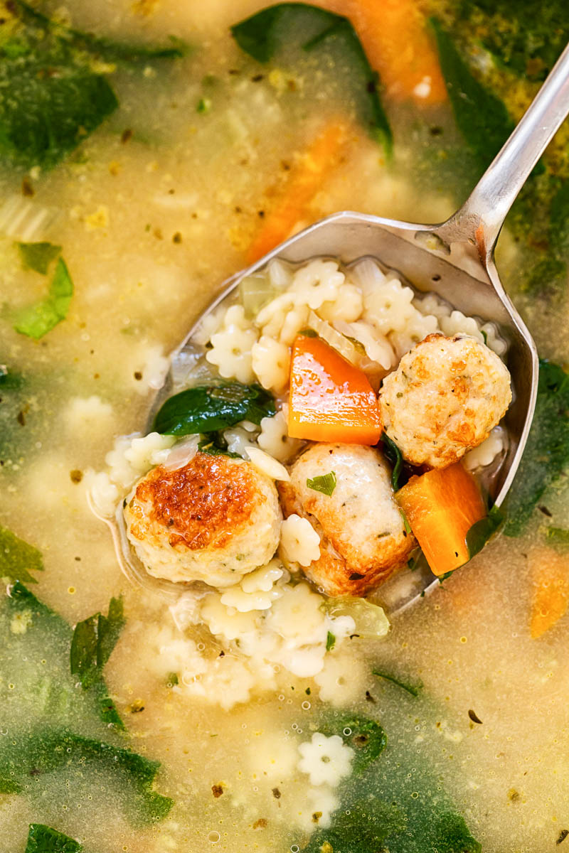 Italian Wedding Soup closeup