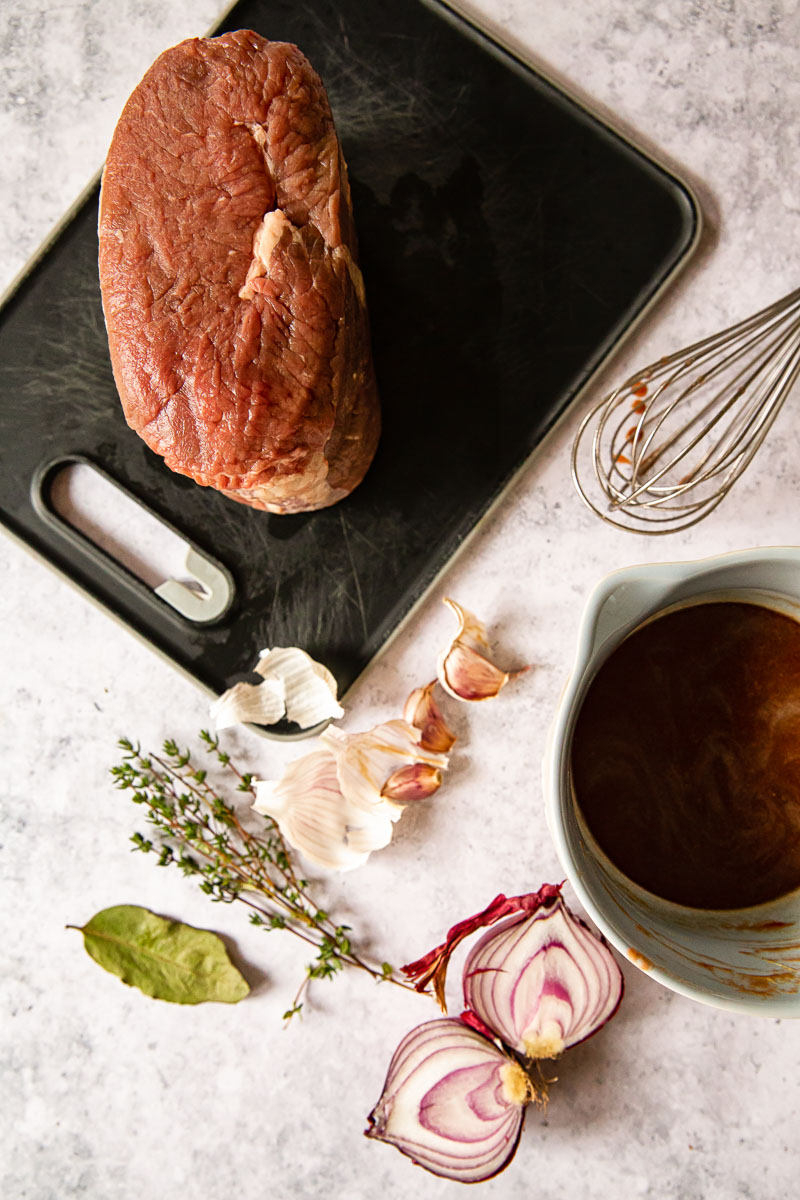 ingredients for braised beef brisket