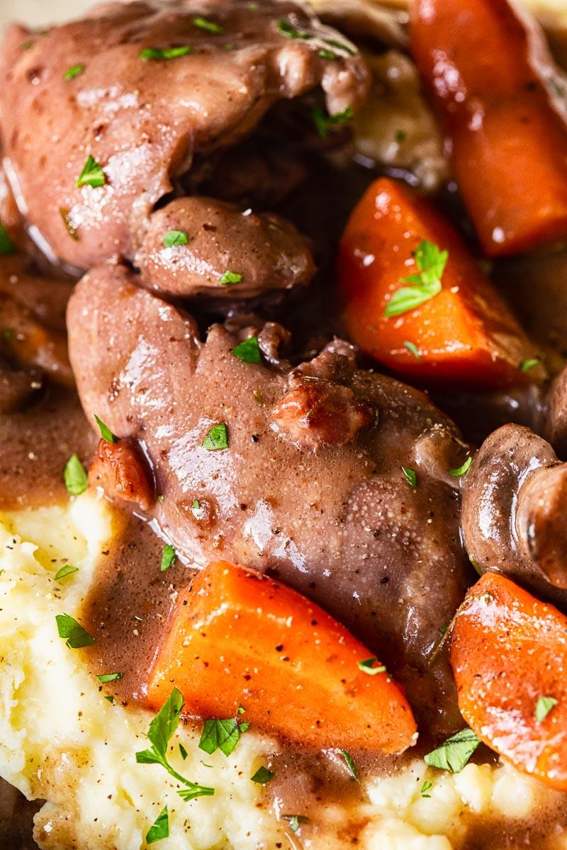 Chicken stew close up