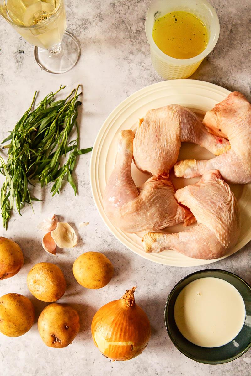 tarragon chicken and potatoes ingredients