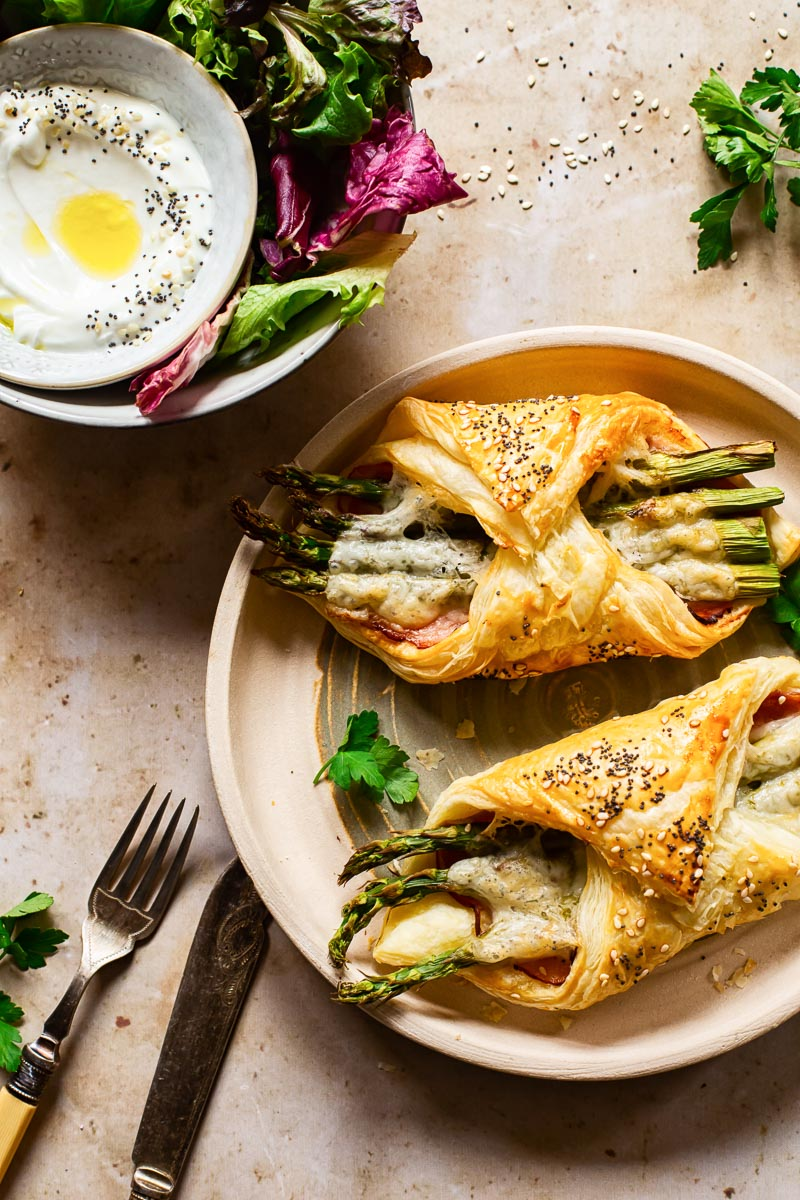 puff pastry appetizers on plate