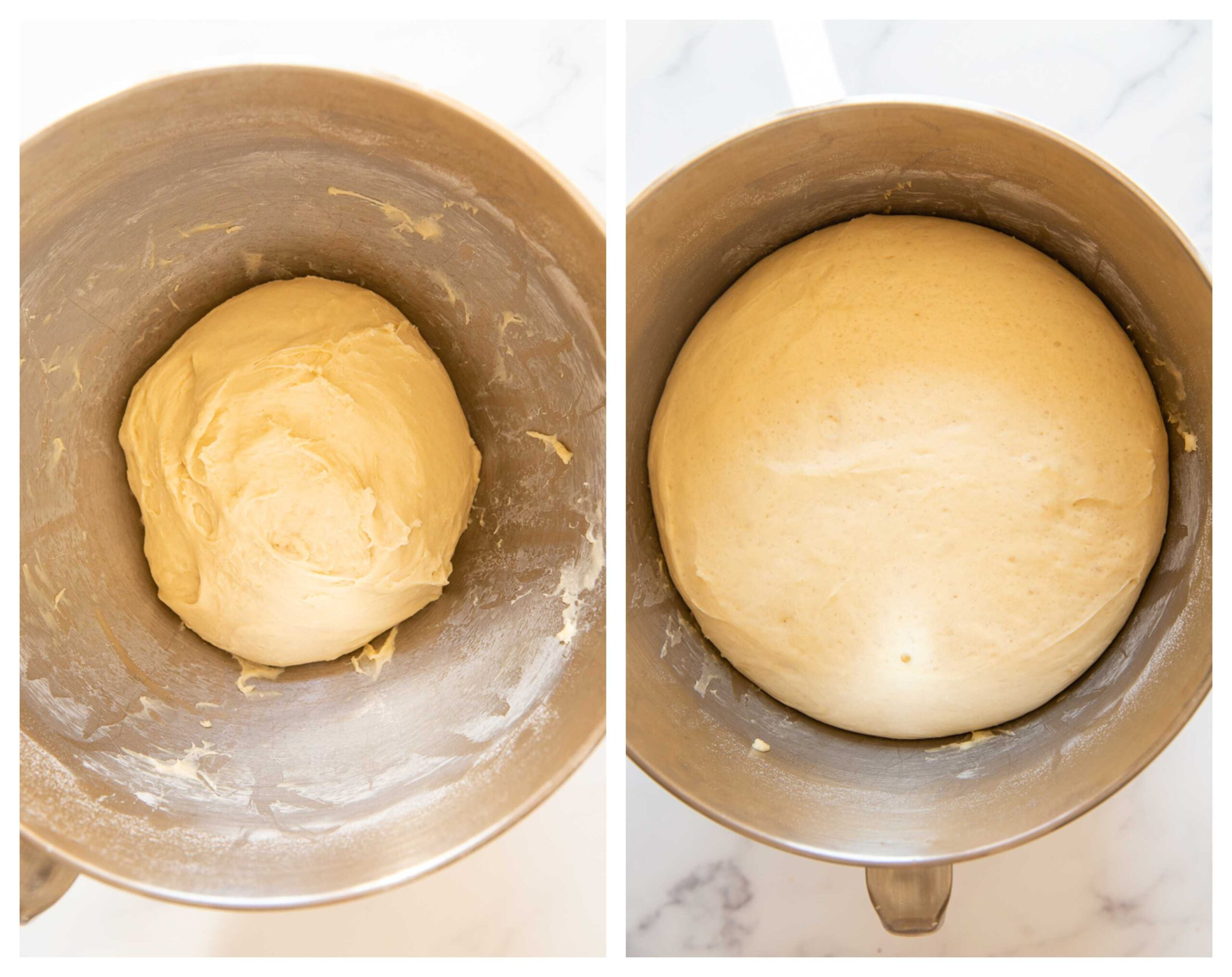 cinnamon bun dough process