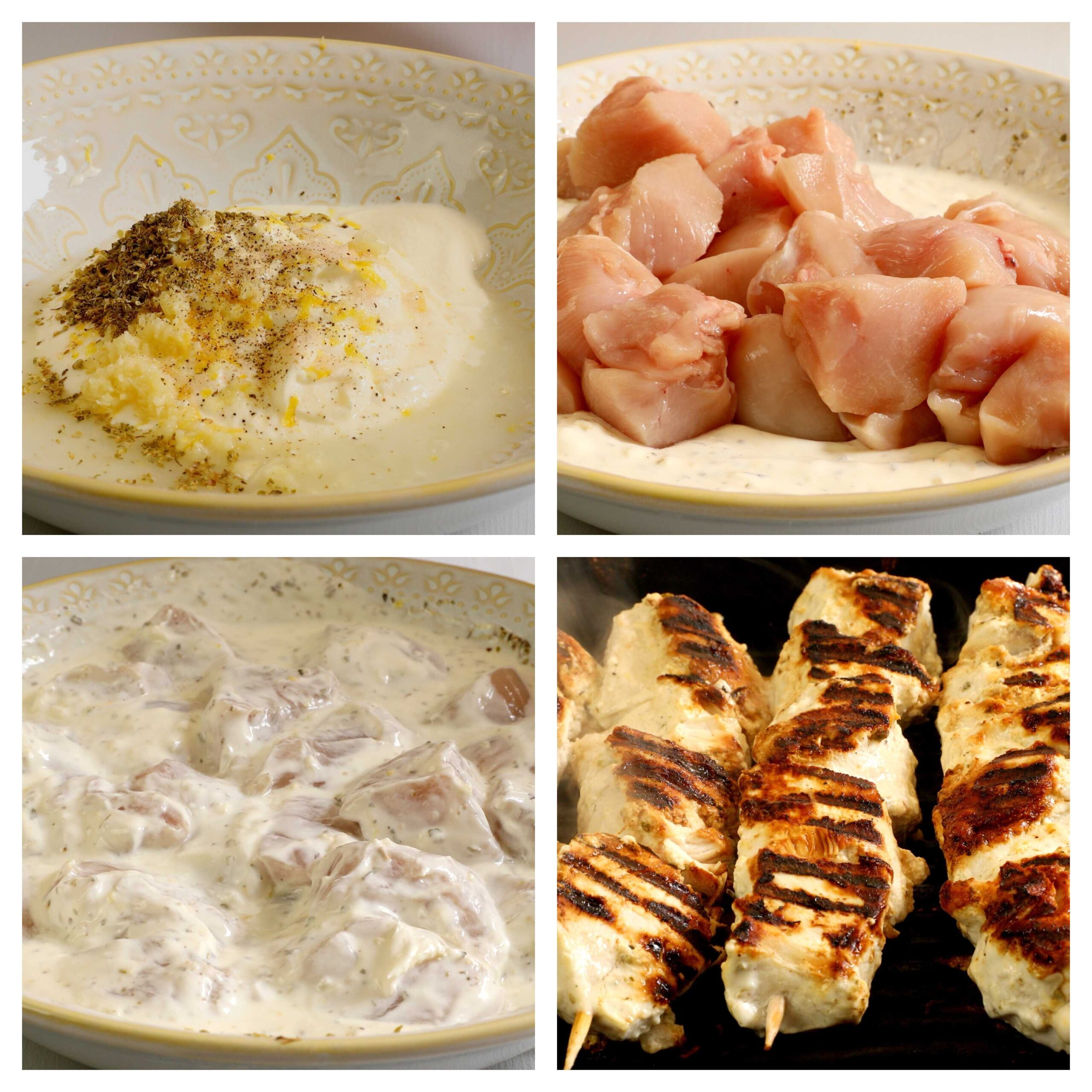 chicken souvlaki recipe process photos