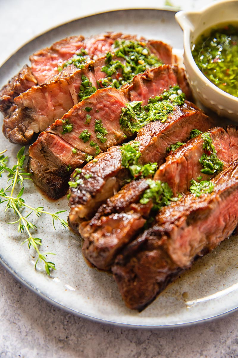 Rib Eye Steak With Sicilian Lemon Herb Sauce Video Vikalinka