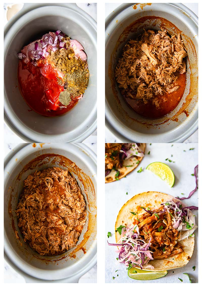 slow cooker pulled pork cooking stages